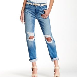 7 For All Mankind 1984 Boyfriend Jeans rip knees